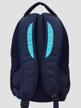 Load image into Gallery viewer, Teal school bag back view