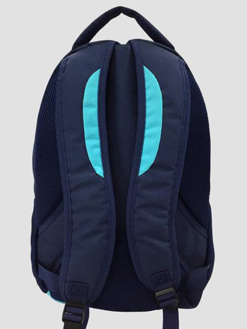 Teal school bag back view