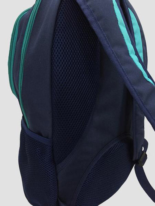 Teal school bag details
