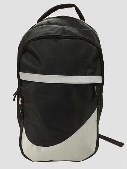Grey school bag front view