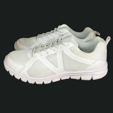 White lace school shoes first view