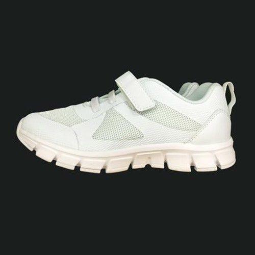 White velcro school shoes side view