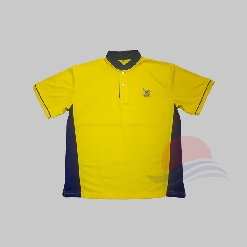 LSPS Navy Collar PE T-Shirt Front View