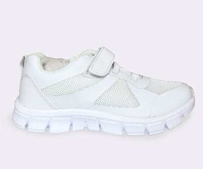 White School Shoes - Velcro