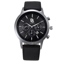 Di-Santore Luxury Watch - Geo Black Leather