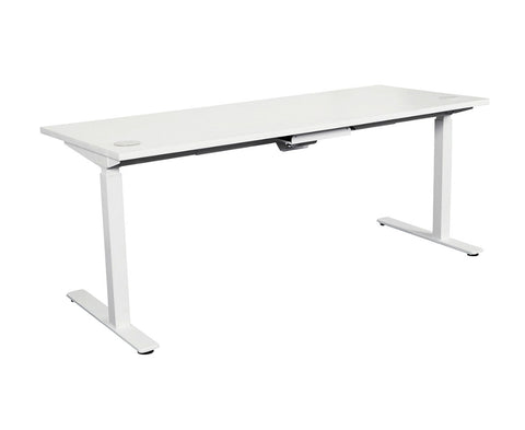 Wondrous Summit Sit Stand Height Adjustable Desk 1500 X 750 Beech Black Download Free Architecture Designs Embacsunscenecom