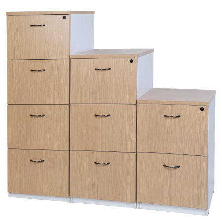 Logan Filing Cabinet - New Oak / White
