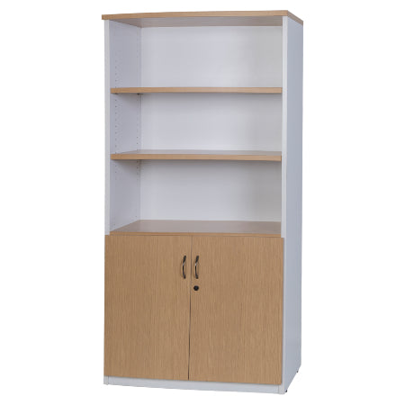Logan Cupboard - New Oak / White