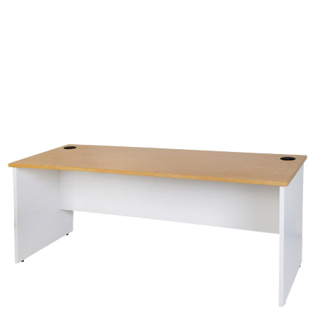 Logan Desk - New Oak / White