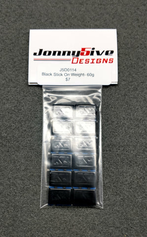 J5D Black Stick On Weight- 60g
