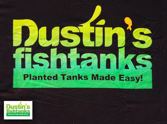 Black Dustin's Fishtanks T-shirt