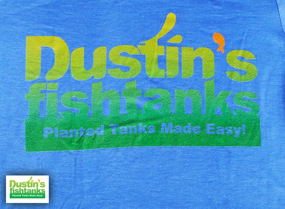 Light Blue Dustin's Fishtanks T-Shirt