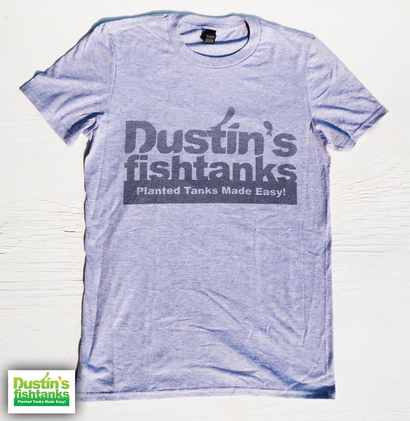 Grey Dustin's Fishtanks T-Shirt