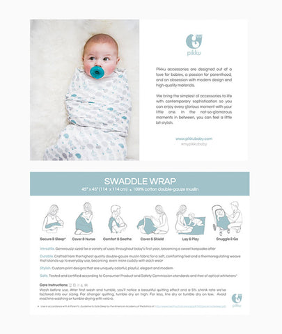 Pikku Baby | Muslin Baby Accessories | Muslin Swaddle Wraps | Product Information