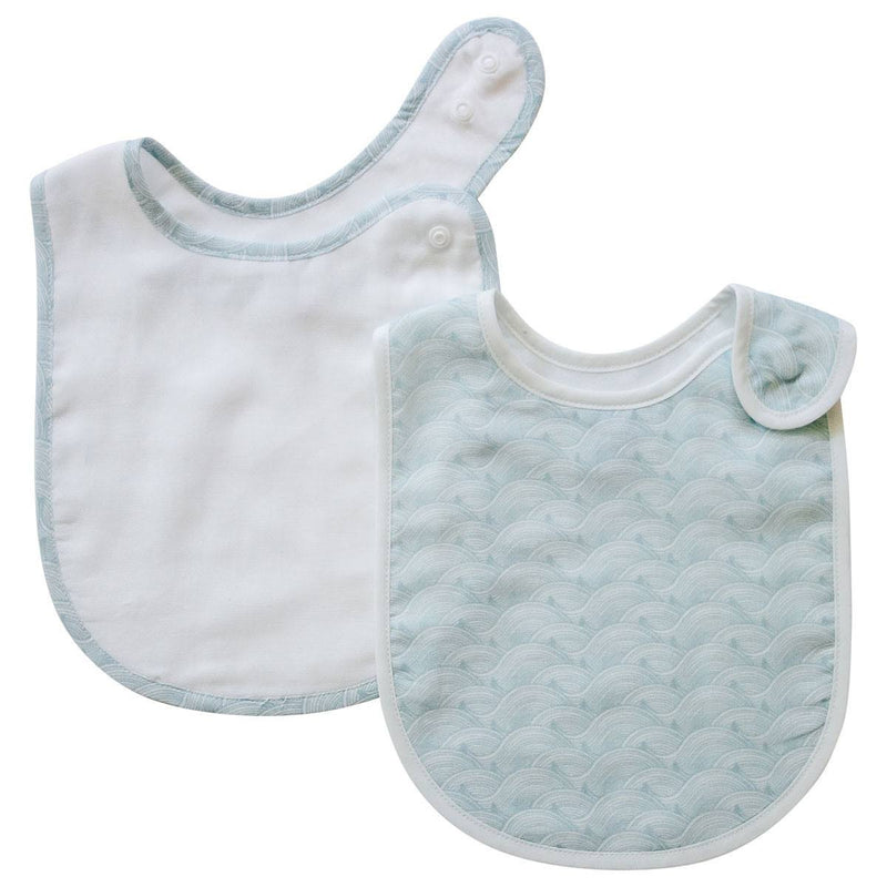Pikku Baby | Classic Bib Set | Muslin Drool Bibs | Ocean Collection