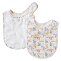 Pikku Baby | Classic Bib Set | Muslin Drool Bibs | Playful Fox Collection