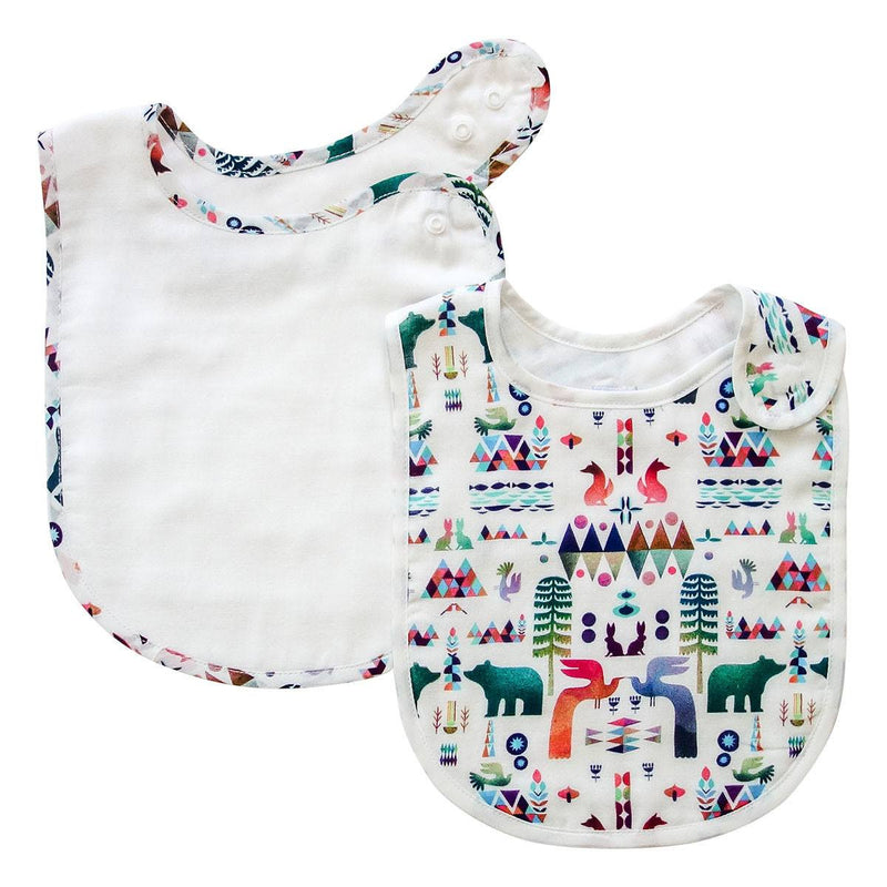 Pikku Baby | Classic Bib Set | Muslin Drool Bibs | Woodland Fantasy Collection