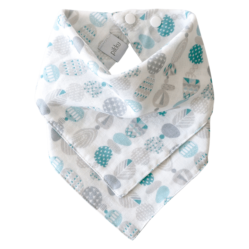 Pikku Baby | Muslin Bandana Bib | Painted Stones Collection | Aqua