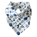 Pikku Baby | Muslin Bandana Bib | Painted Stones Collection | Nautical