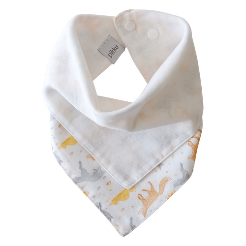 Pikku Baby | Muslin Bandana Bib | Playful Fox Collection