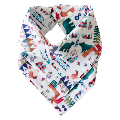 Pikku Baby | Muslin Bandana Bib | Woodland Fantasy Collection | Emerald