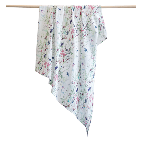 Pikku Baby | Muslin Swaddle Wrap | Swallows Collection