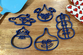 Dragon Quest Slime Cookie Cutters- King Slime, Liquid Slime, Slime Stack, Dark Slime, slime