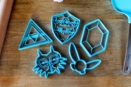 Legend of Zelda Cookie Cutters - Navi, Rupee, Majoras Mask, Triforce, Hylian Sheild - Breath of the Wild /  Nintendo Gift