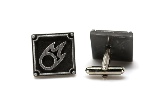 Black Mage FFXIV Job Cufflinks - BLM Metal Resin, Final Fantasy 14 FF14 Soul Crystal - LootCaveCo