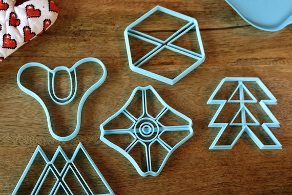 Destiny 2 Cookie Cutters - Hunter, Titan, Warlock, Ghost, Tricorn - Destiny 2 / Baking Gift - LootCaveCo