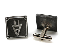 Dragoon FFXIV Job Cufflinks - DRG Metal Resin, Final Fantasy 14 FF14 Soul Crystal - LootCaveCo