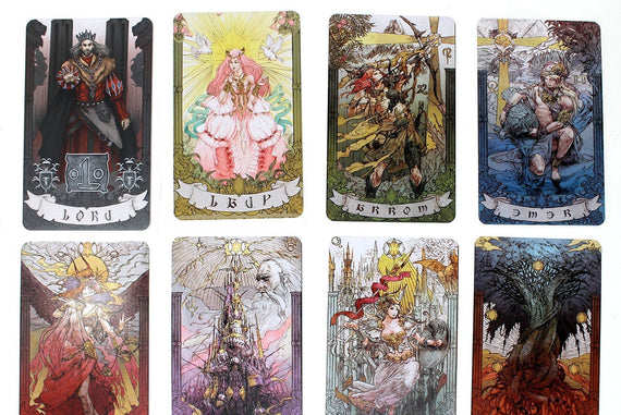 FFXIV Astrologian Cards Set, AST FF14 Final Fantasy 14 Lord and Lady Included FFXIV Cosplay - LootCaveCo