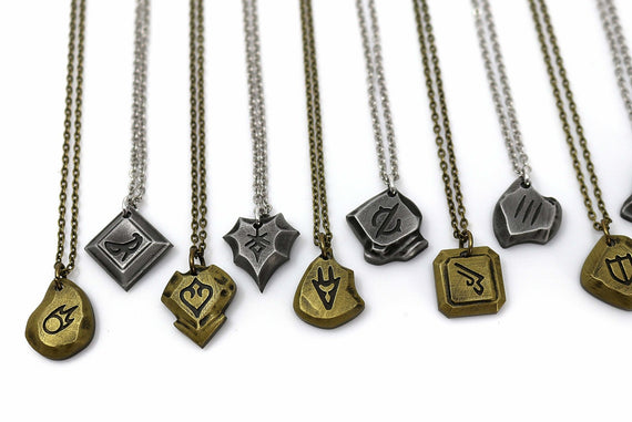 FFXIV Necklace Soul Crystal Locket Style Charm - Final Fantasy 14 Job Stone Necklace FF14 - LootCaveCo