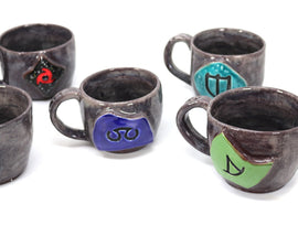 FFXIV Soul Crystal Job Mug Hand-turned Final Fantasy Gift made with Strange Clay Studios - LootCaveCo