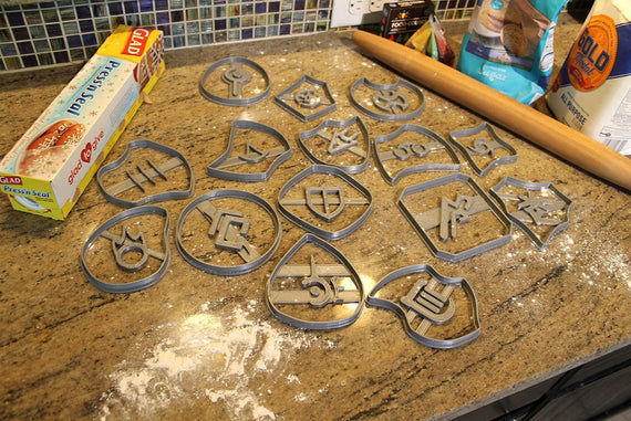 FFXIV Soul Stone Cookie Cutters Full Collectors Set *all 15 Stones* Whm, Drg, Rdm, Brd, Drk FF14- WHM Soul Crystal Cookie Cutter - LootCaveCo