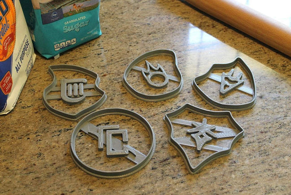 FFXIV Soul Stone Cookie Cutters (Set 2 of 3) -Drg, Brd, Blm, Drk, Ast - FF14- DRG Soul Crystal Cookie Cutter - LootCaveCo
