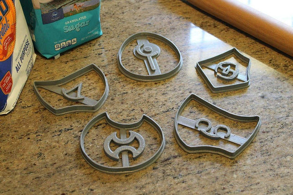 FFXIV Soul Stone Cookie Cutters (Set 3 of 3) -Whm, Sam, Sch, Smn, War - FF14- WHM Soul Crystal Cookie Cutter - LootCaveCo