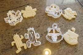 Final Fantasy X Critters Cookie Cutters -Chocobo, Tonberry, Cactuar, Fat Chocobo, Moogle FF14 - LootCaveCo