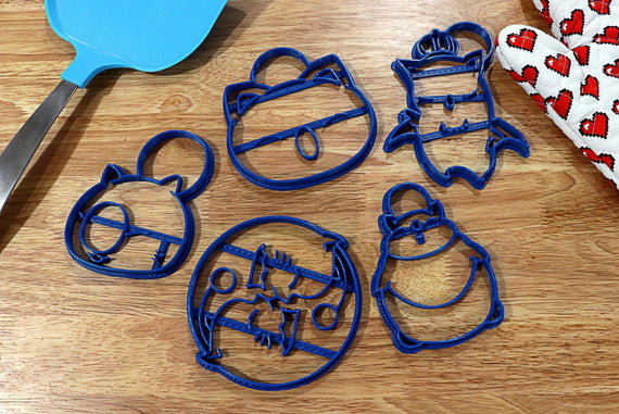 Final Fantasy X Moogle Cookie Cutters - Happy Moogle, Yin Yang Moogle, Moogle Face, King Mog, Fat Moogle - FFXIV Cookie Cutters - LootCaveCo