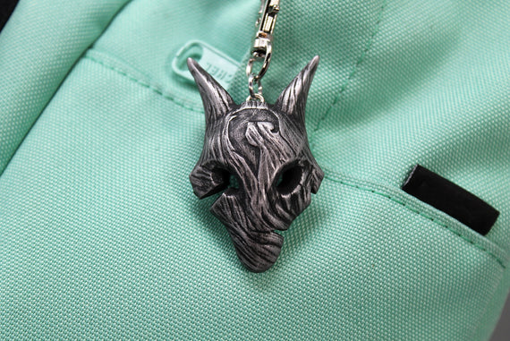 Kindred Wolf Mask Keychain / Necklace, League of Legends Cosplay or Gift