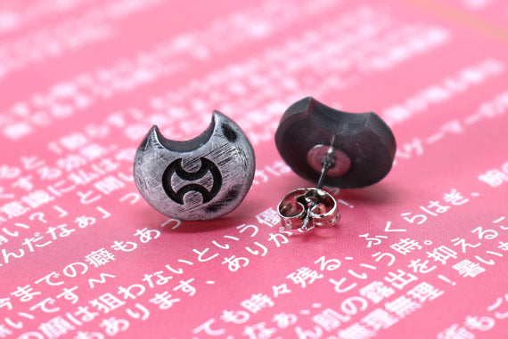 Warrior FFXIV Soul Crystal Earrings/Job Stone FF14 Final Fantasy 14 FFXIV Charm -Stainless Steel Stud-