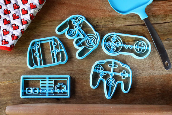 Nintendo Controller Cookie Cutters - Gamecube, Switch, SNES, NES, N64 -VideoGame Controller /  Nintendo Gift