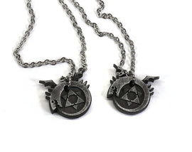 Full Metal Alchemist Ouroboros Symbol-Aluminum Metal Charm Necklace Pin for FMA Cosplay-Homunculi