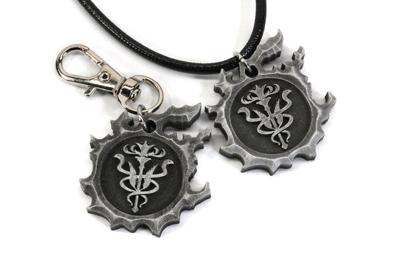 FFXIV The Order of the Twin Adder Keychain / Necklace - Grand Company - FF14 Final Fantasy 14