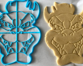 12 Inch Bowser Cookie Cutter -  Cookie Cake  - Mario, Luigi, Bowser, Peach, Yoshi - Super Mario Bros /  Nintendo Gift