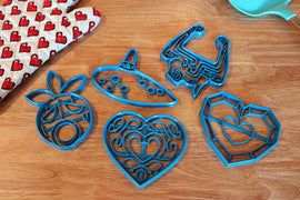 Legend of Zelda Cookie Cutters - Heart Container, Ocarina, Fused Shadow, Deku Mask - Breath of the Wild / Nintendo Gift - LootCaveCo