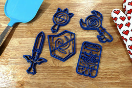 Legend of Zelda Cookie Cutters - Master Sword, Boss Key, Deku Shield, Lens of truth, Sheikah Slate - Breath of the Wild / Nintendo Gift - LootCaveCo
