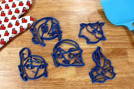 Legend of Zelda Windwaker Cookie Cutters - Link, Tetra, King of Red Lions, Makar, Medli - Nintendo Gift - LootCaveCo