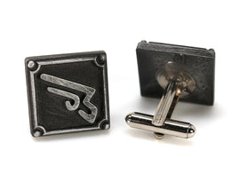 Machinist FFXIV Job Cufflinks - MCH Metal Resin, Final Fantasy 14 FF14 Soul Crystal - LootCaveCo