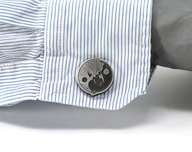 Moogle Final Fantasy X Yin & Yang Cufflinks - Final Fantasy 9 Wedding - LootCaveCo